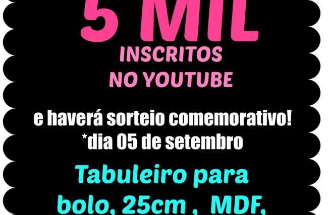 CHEGAMOS A 5 MIL INSCRITOS!!!!!!!!